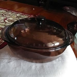 Fab Smokey Brown 1.5qt covered casserole dish